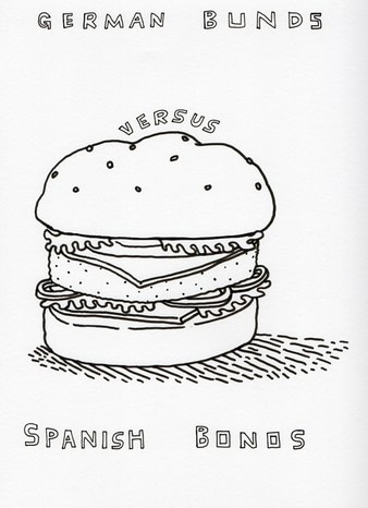 illustration of a burger